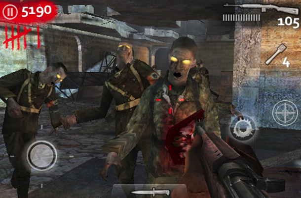 call of duty iphone world at war zombie