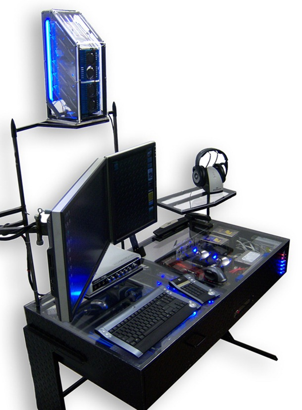 pc casemod int gr dans un bureau. Black Bedroom Furniture Sets. Home Design Ideas