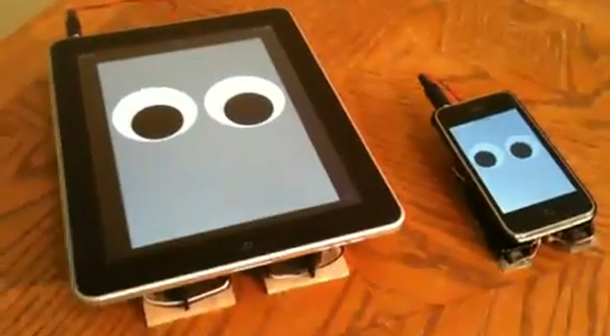 ipad walking bot