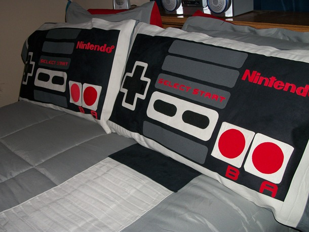 Nintendo Entertainment System controller pillows