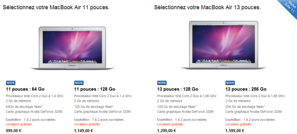 macbook air 2 d tail et tarifs des nouveaux macbook air. Black Bedroom Furniture Sets. Home Design Ideas