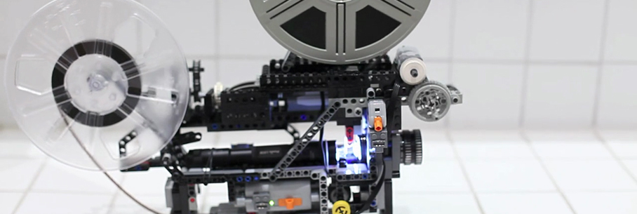 projecteur super 8 en lego technics vid o. Black Bedroom Furniture Sets. Home Design Ideas