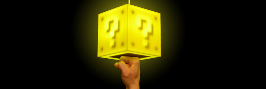 Lampe Cube Magique Super Mario Bros Video