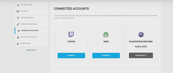 connecter compte epic games