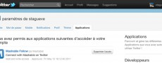 La gestion des applications tierces sur Twitter
