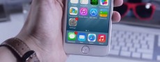 iPhone 6 : iOS 8 simulé sur une maquette du nouvel iPhone
